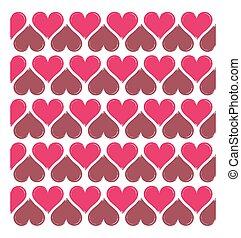 El corazón del vector tiene una forma de fondo sin costura