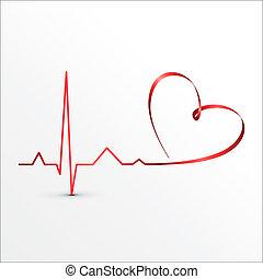El corazón es mejor que el icono del cardiograma