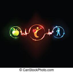 El corazón sano se agita