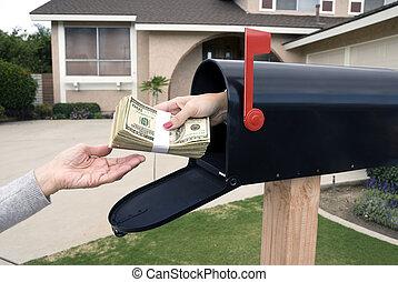 El correo entrega dinero