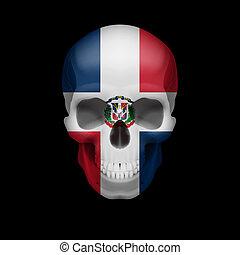 El cráneo de la bandera de la República Dominicana