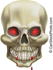El cráneo del ojo rojo
