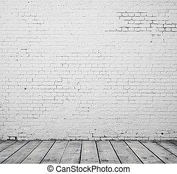 El cuarto de ladrillo blanco