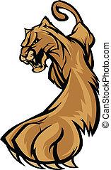 El cuerpo de mascotas de Cougar merodeando