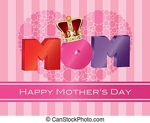 El día de las madres alfabeto con la carta de felicitación de la corona