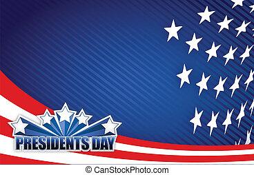 El día de los presidentes es blanco y azul