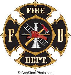 El departamento de bomberos maltesa cruz vinta