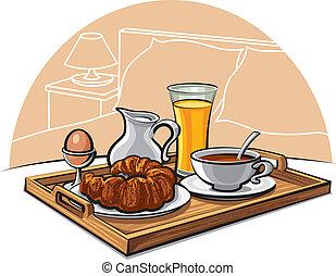 El desayuno del hotel