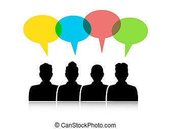 El diálogo entre diferentes personas