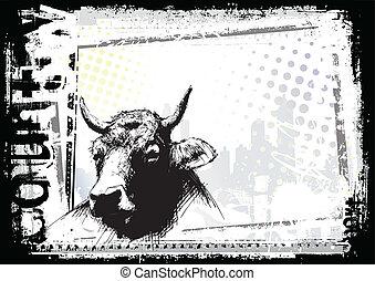 El dibujo de la vaca
