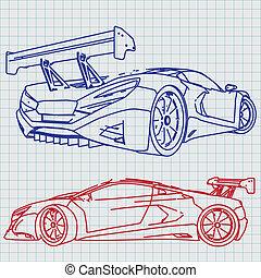 El dibujo del coche deportivo