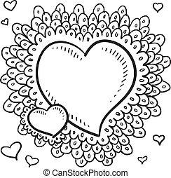 El dibujo del corazón de Valentine