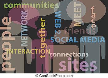 El discurso de comunicación de la red de medios sociales