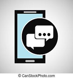 El discurso de las redes sociales de Smartphone