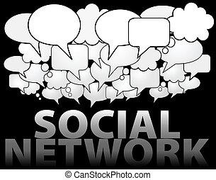 El discurso de los medios de comunicación del SOCIAL NETWORK