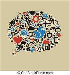 El discurso de los medios sociales es plano