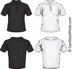 El diseño de la camisa de polo