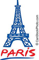 El diseño de la torre de París Eiffel
