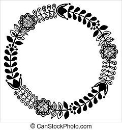 El diseño tradicional finlandés, diseño negro, estilo nórdico, escandinavo