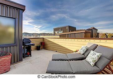 El edificio de apartamentos de la terraza de la terraza.