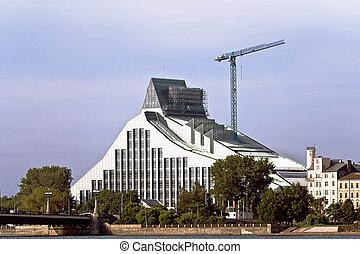 El edificio de la biblioteca