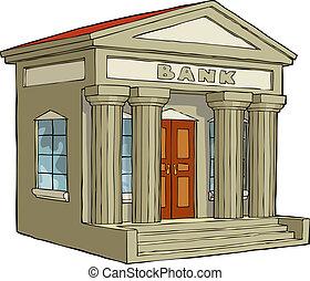 El edificio del banco