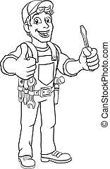 El electricista mecánico de plomeros