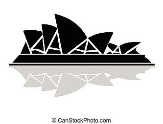 El elegante icono blanco y negro de Sydney Opera House