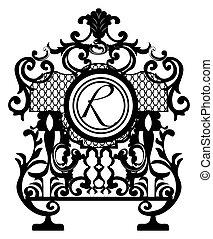 El elemento de decoración barroca