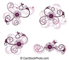 El elemento de diseño floral 2