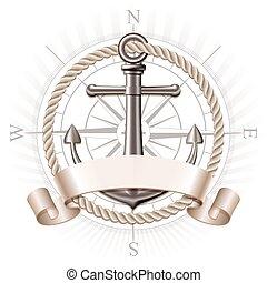 El emblema del ancla, vector
