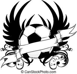 El emblema del equipo de fútbol