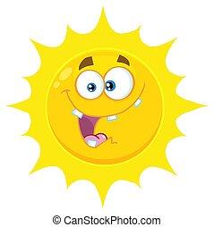 El emoji de dibujos de dibujos animados amarillos loco con expresión
