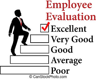 El empleado de negocios mejora la evaluación