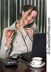 El empleado del teléfono