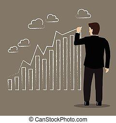 El empresario dibuja una tendencia positiva