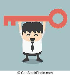 El empresario tiene una clave de éxito