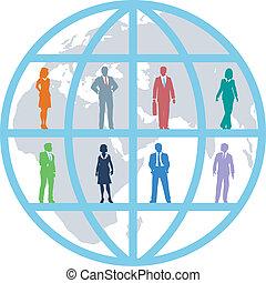 El equipo mundial de recursos de los empresarios