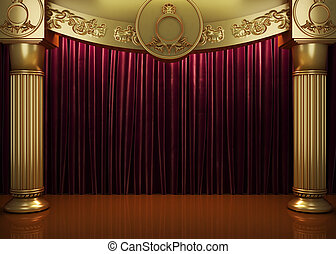 El escenario de la cortina roja