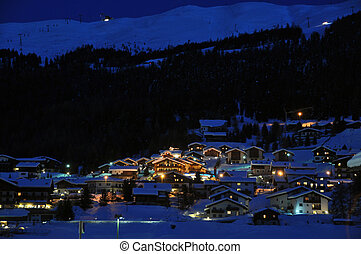 El escenario de la noche de Ski