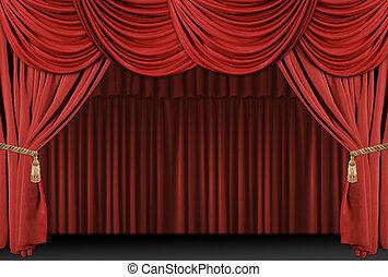 El escenario de las cortinas