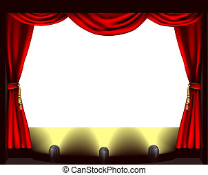 El escenario del teatro