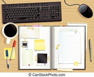 El escritorio y el álbum de recortes