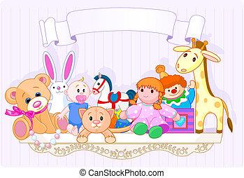 El estante de juguetes