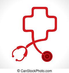 El estetoscopio da forma al corazón