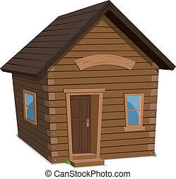 El estilo de vida de la casa de madera