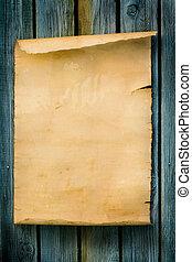 El estilo del arte occidental firma papel viejo y madera