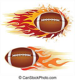 El fútbol americano con llamas