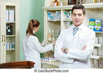 El farmacéutico de farmacia