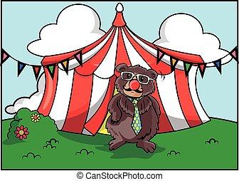 El festival de atracción del circo Bear